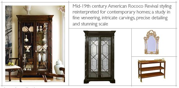 Mid 19th Century American Rococo Revival Styling Reinterpreted For  Contemporary Homes; A Study In Fine Veneering... Intricate Carvings...  Precise ...