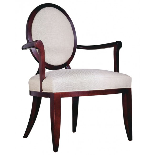 Baker Barbara Barry Oval X Back Dining Arm Chair
