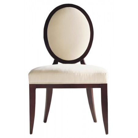 Oval X Back Dining Side Chair