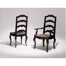 French Ladderback Side and Arm Chairs