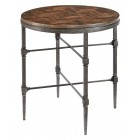 Everett End Table with Wood Top and Metal Base