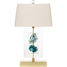 Agate Azure Table Lamp