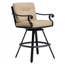 Brown Jordan Camden Square Swivel Bar Stool - Loose Cushion