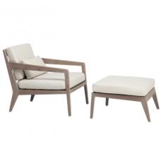 Lounge Chair and Ottoman - Loose Cushions and Pillow