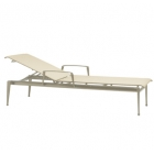 Stacking Adjustable Chaise With Arms