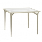 36'' Square Bistro Dining Table - Glass Or Perforated Top