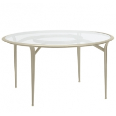 54'' Round Dining Table - Glass Or Perforated Top