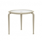 21'' Round Occasional Table - Glass Or Perforated Top