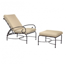Adjustable Lounge Chair and Ottoman - Loose Cushions