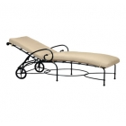 Adjustable Chaise With Wheels - Loose Cushion