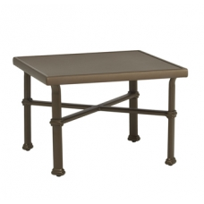 26'' Sq Occasional Table - Glass Or Aluminum Top