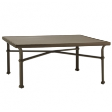 44'' Sq Chat Table - Glass Or Aluminum Top