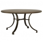 54'' Rd Dining Table - Glass Or Aluminum Top