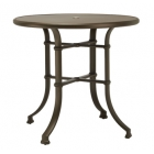 42'' Rd Bar Table - Glass Or Aluminum Top