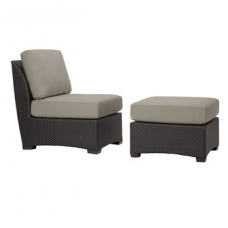 Armless Chair and Ottoman - Loose Cushions