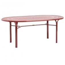 42'' X 72'' Umbrella Table - Perforated Top - Lock Top