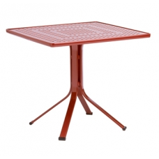 32'' X 32'' Pedestal Dining Table - Perforated Top - Lock Top