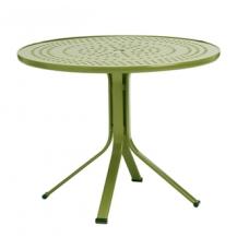 36'' Round Pedestal Umbrella Table - Perforated Top - Lock Top