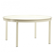 54'' Dining Table - Glass Or Aluminum Top