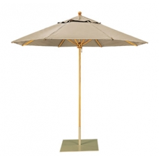 Umbrella 8' Hexagon, Manual or Pulley Lift , Ash Pole, Single Vent Canopy