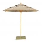 """Umbrella 8 1/2"""" Octagon, Rotating Double Vent Canopy, Manual Lift"""