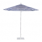 Umbrella 8 1/2' Octagon, Brushed Aluminum Pole, Manual Lift, Rotating and Double Vent Canopy