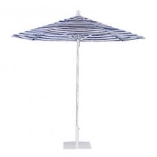 Umbrella 8 1/2' Octagon, Brushed Aluminum Pole, Manual Lift, Rotating and Double Vent Canopy
