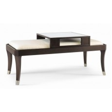 Century Upholstered Top Cocktail Table w/ Sliding Serving Tray