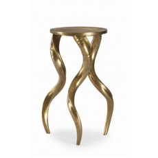 Century Brass Horn Side Table
