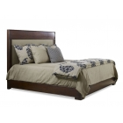 Wood Trimmed Upholstered Bed