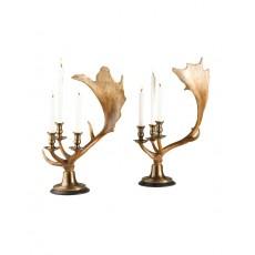 Moose Antler Candlestick Pair