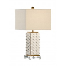Woven Lamp - White