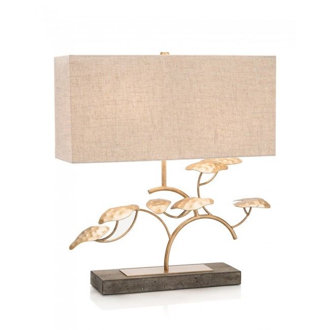 Gold leaf table lamp aloadofball Image collections