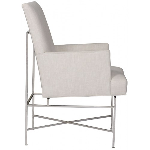 Ivory cabinets ivory fabric arm chair ivory living room furniture - Boswell Arm Chair