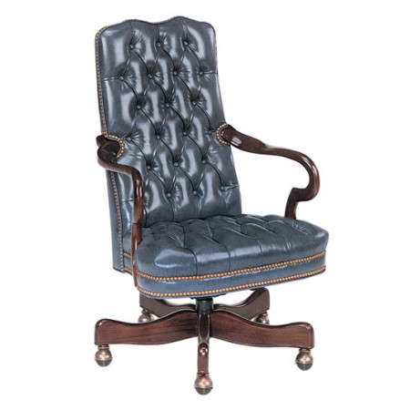 Kensington Tufted Gooseneck Swivel-Tilt Chair