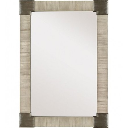 Fennell Mirror with Clear Mirror - Ash