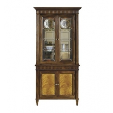 Drake Cabinet Deck-Leaded Glass Doors & Base -Center Section
