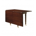 Christiansen Dining Drop-Leaf Table with Beeswing Primavera Top