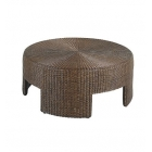 "48"" Wicker Round Coffee Table"
