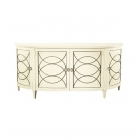 Duchamp Demilune Sideboard With Wood Top