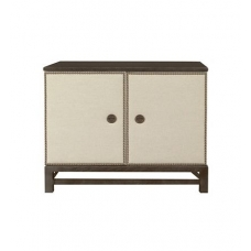 Remy Two Door Upholstered Cabinet in Group One Fabrics with Remy Base