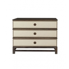 Remy Three Drawer Upholstered Chest in Group One Fabrics