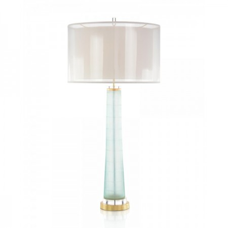 Pale Aqua and Gold Table Lamp