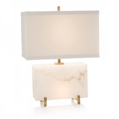 Alabaster Horizontal Block Table Lamp