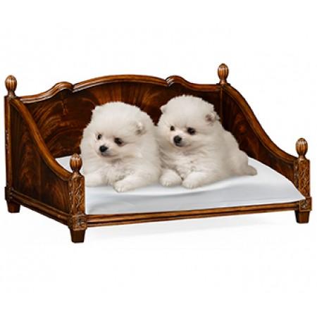 Four Poster Mahogany Dog Bed
