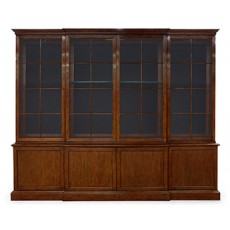 Large George III Imperial Mahogany Bookcase Cabinet