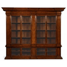 Venetian English Mahogany Bookcase