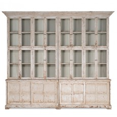 Farmhouse Glass Front Bookcase