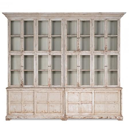 Farmhouse Glass Front Bookcase