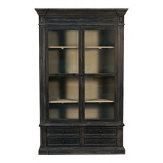 King Display Bookcase, Black Wash Finish